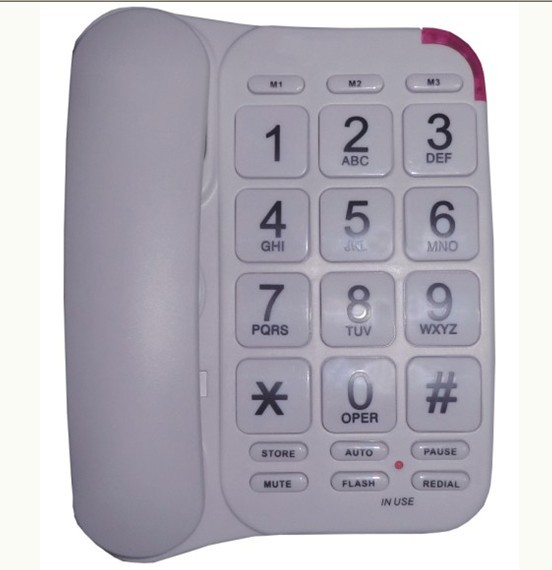 FSK/DTMF caller systems big button phone TM-P032