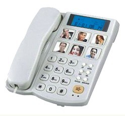 Redial flash function big button telephone TM-P035