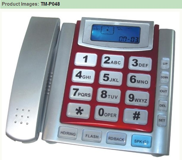 Super LCD indicator button telephone TM-P048