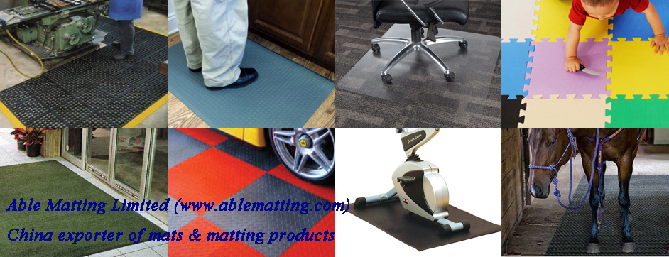mats and matting products for industrial, commercial, domestic and safe applications.