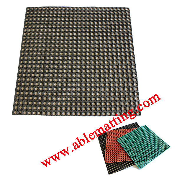 Rubber Drainage Floor Mat, Wet Area Safety Matting