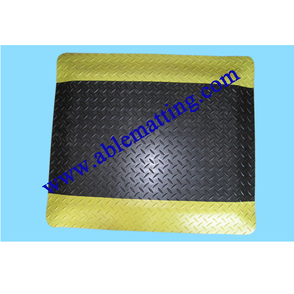 Anti-fatigue Floor Mat, Diamond Plate Pattern Surface (used in dry area)