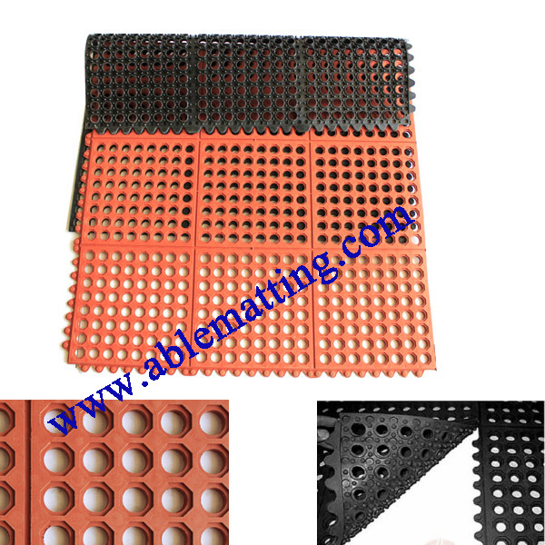 Interlocking Anti-fatigue Drainage Mat (wet area)