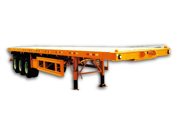 3 axles flatbed semi-trailer