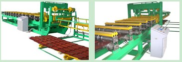Roll forming machine for production of Cascade metal tiles and 25 mm corrugated sheet