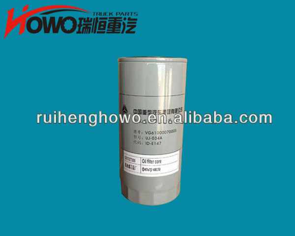 Sinotuk HOWO truck part Oil filter VG61000070005