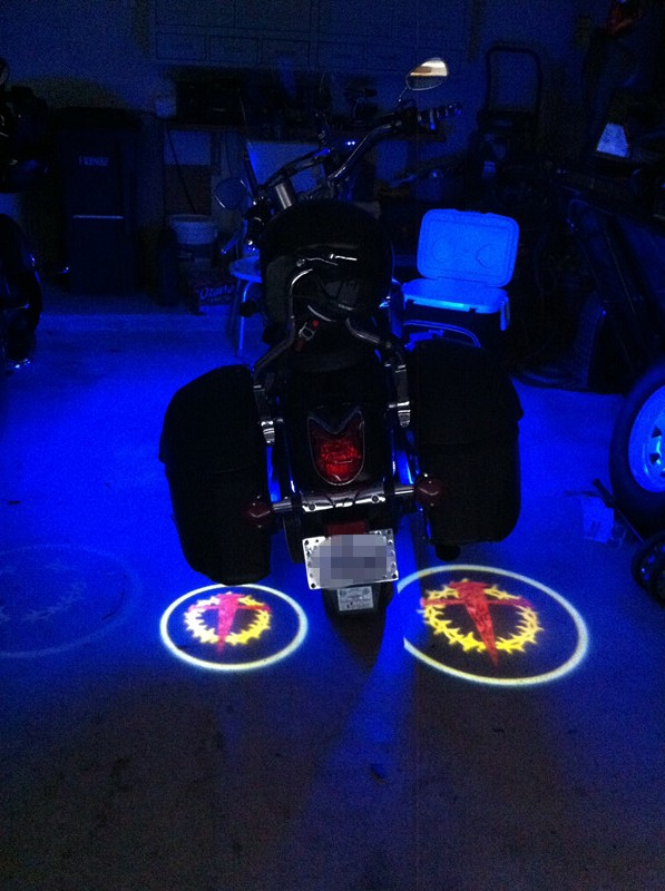 LED Ghost Rider Lights for Motorcycles,Custom Logo Available!
