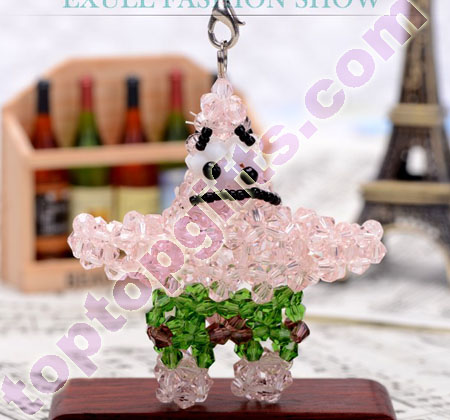 handmade beaded Patrick Star crystal cartoon charm