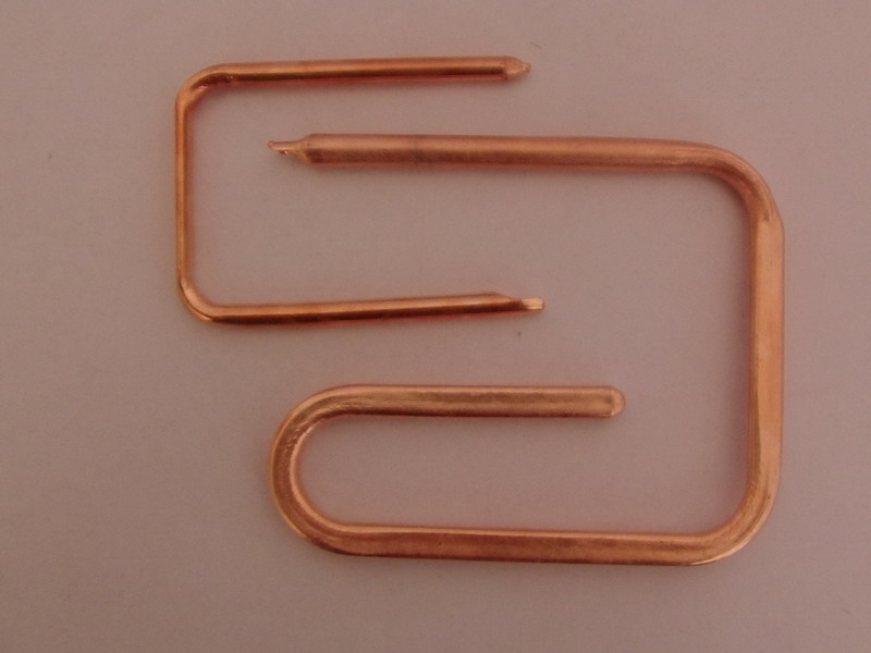 sintered powder heat pipes with round and bended shapes for heat transfer