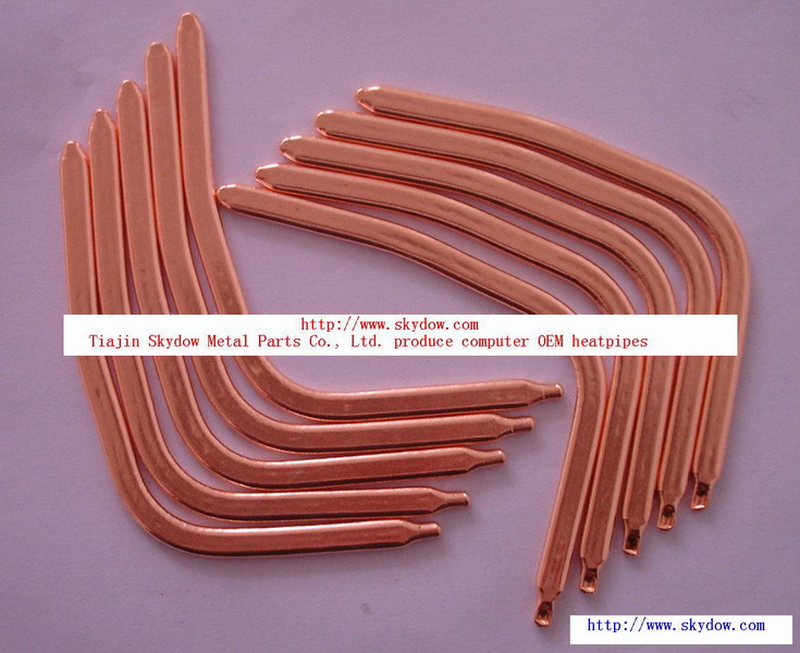 copper sinter and groove heat pipes for heat transfer