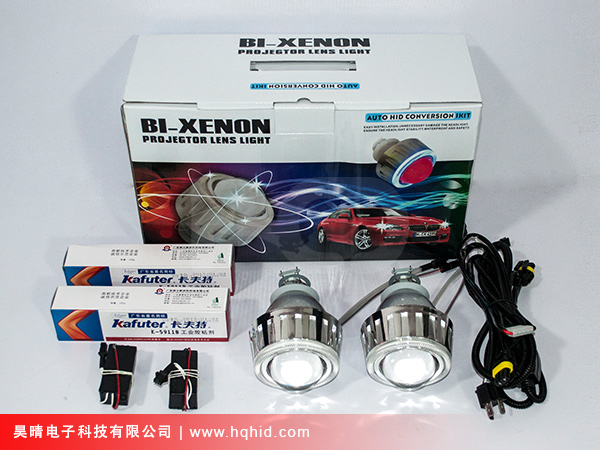 HID Bi-xenon projector lens light with Angel eyes