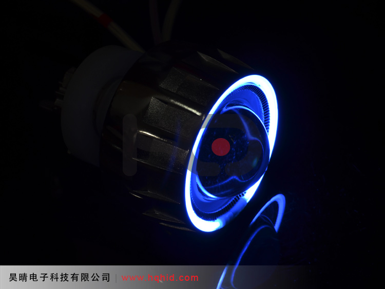 Motorcycle Bi-xenon projector lens light with Angel eyes & Devil eyes