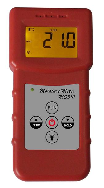 Digital Textile Moisture Meter MS310,Leather,cloth testing