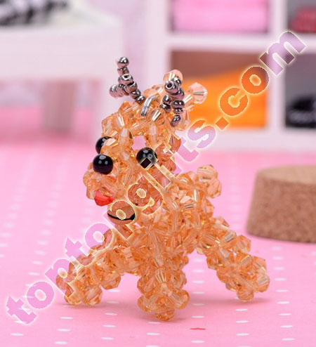 crystal 3d beaded Christmas Reindeer iphone charm ornament
