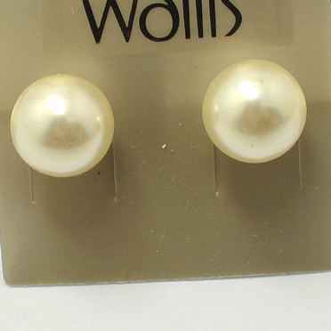 2013 new fashion charming jewelrys white resin pearl beads stud earrings