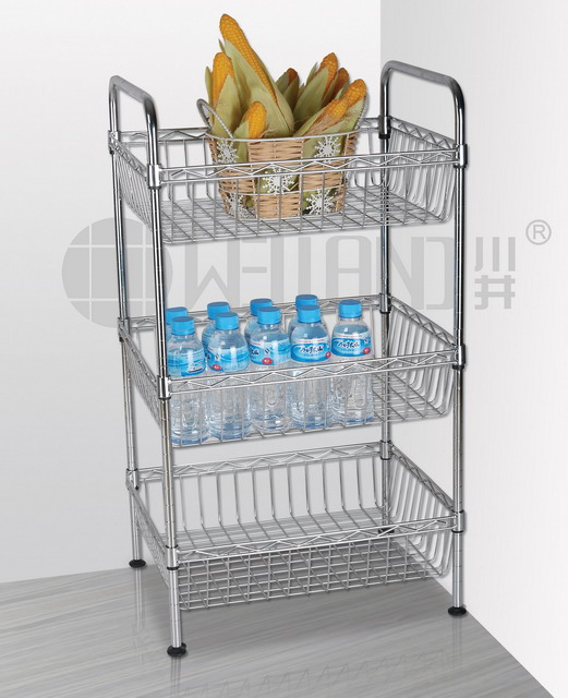 Metal Kitchen Trolley With Baskets Design