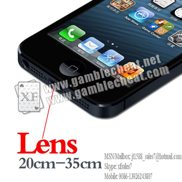 Iphone 5 lens/poker analyzer/poker cheat/contact lens/infrared lens/poker scanner/marked cards