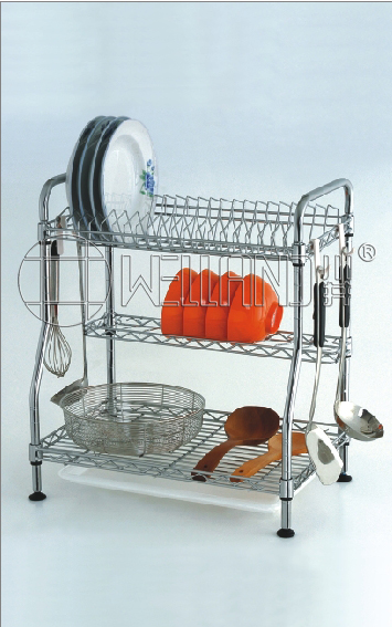 Patent Chrome Dish Drainer Rack