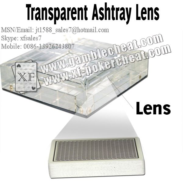 Transparent Ashtray Lens/poker analyzer/poker cheat/contact lens/infrared lens/poker scanner/marked cards