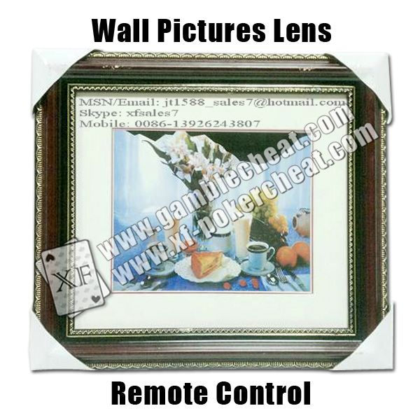 Wallpictures(Remote Control)/poker analyzer/poker cheat/contact lens/infrared lens/poker scanner/marked cards