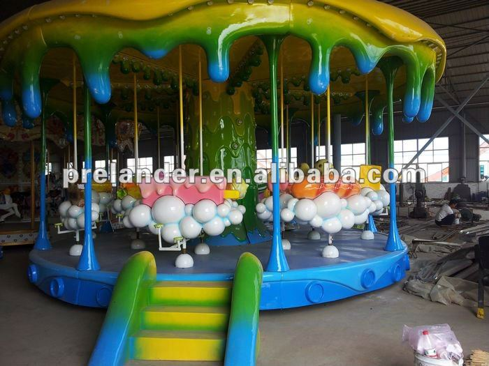 new style amusement equipment outdoor carousel horse