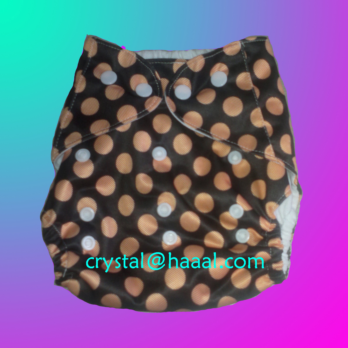 circle printed light baby cloth diaper
