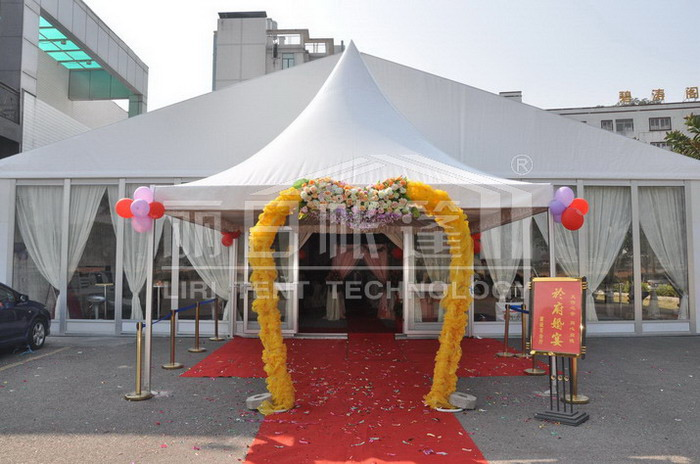 Wedding hall tent/canopy/marquee for a stylish and romantic wedding or ceremony