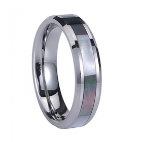 wholesale shell inlay tungsten jewelry