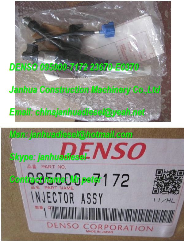 Denso common rail injector 095000-7172 for HINO 23670-E0370