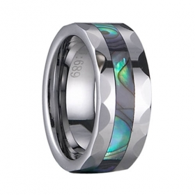 fashion Tungsten Ring shell inlay