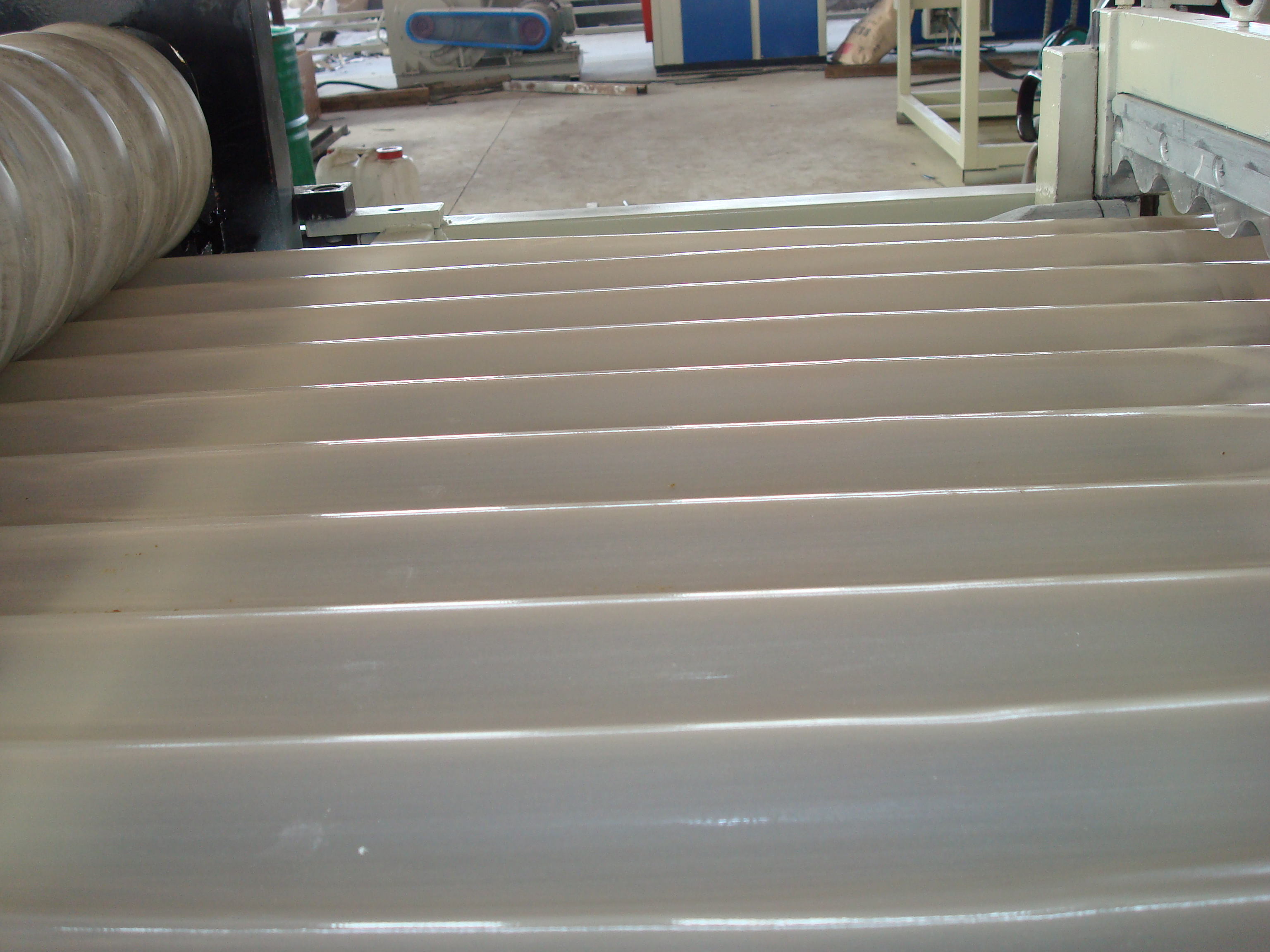 PVC/PP Corrugated Sheet Extrusion