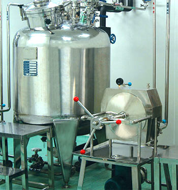 preparation tank / crystalizer / inactivation tank / fermenting tank