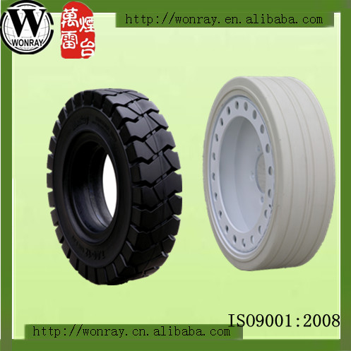 non-marking solid tire for lifting platform