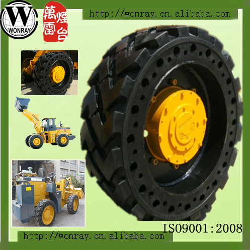 skid steer loader solid tires