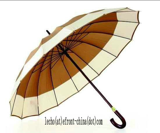 65cmx16k, Straight Manual Wooden Umbrella (OS-001)