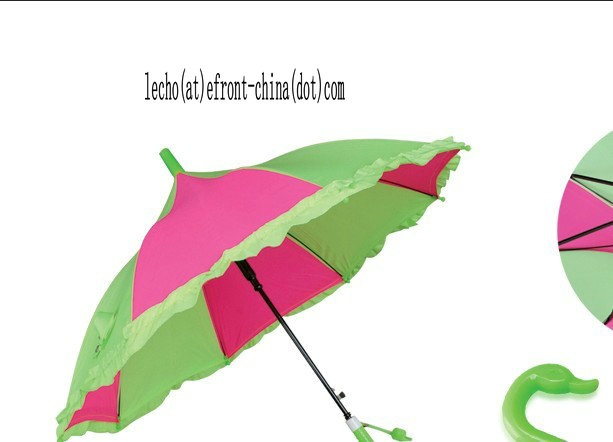 17 Inches Solid Kids\' Umbrella with Border Edge
