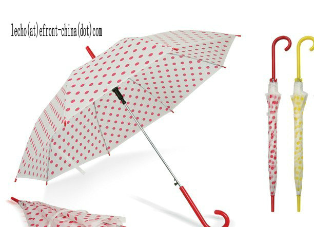 Long Handle DOT Printing PVE Umbrella