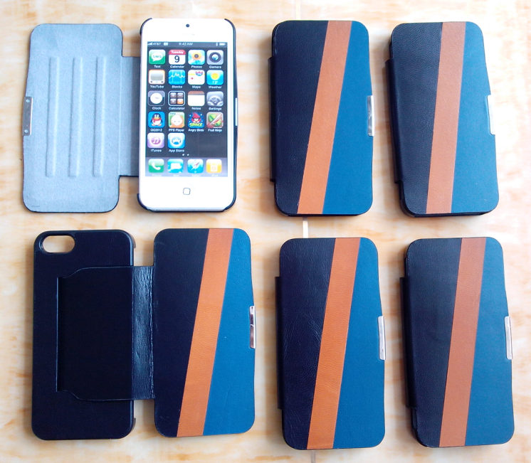 iphone 5 leather flip case with stand
