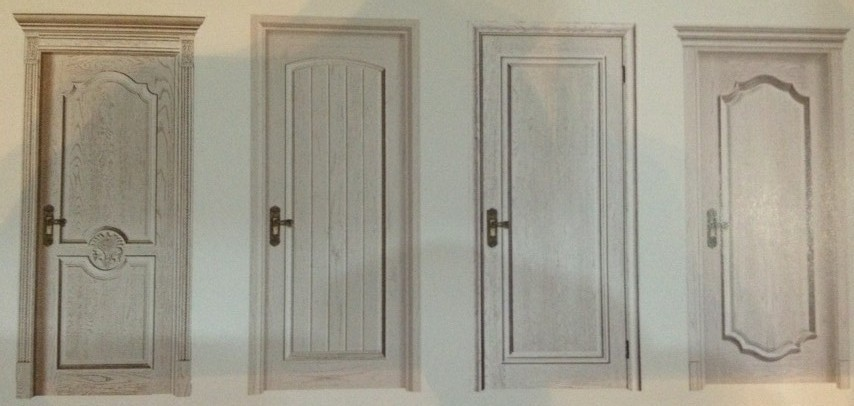 Luxury and Durable Solid Wooden Door with 45mm Thickness, Diversified Colors Available
