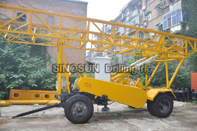 S600 trailer mounted water well drilling rig
