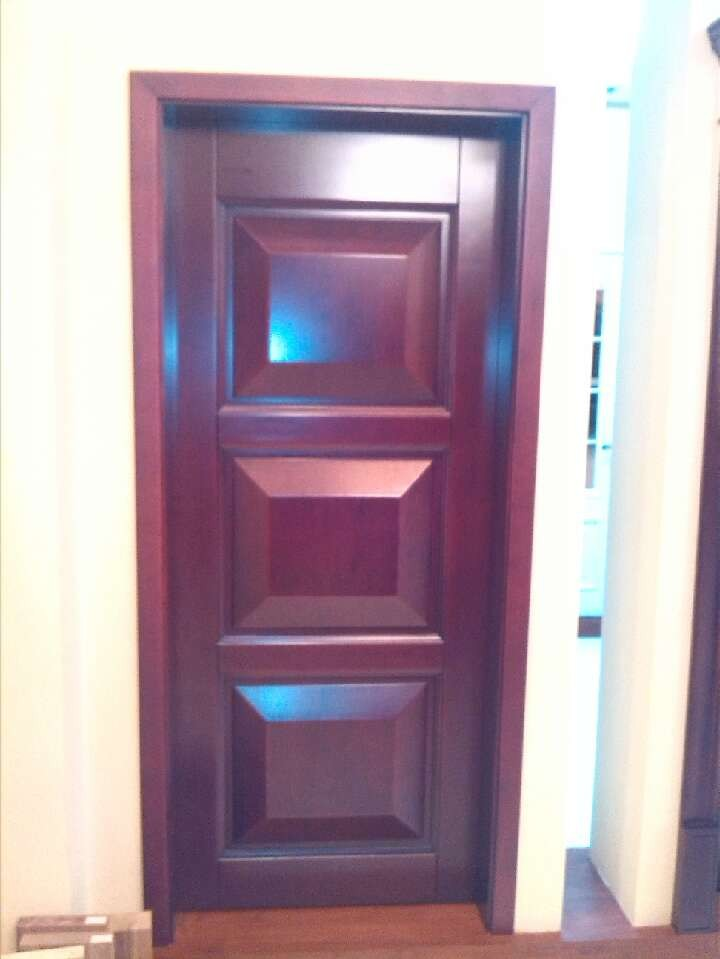 wood composit door with rosewood venner