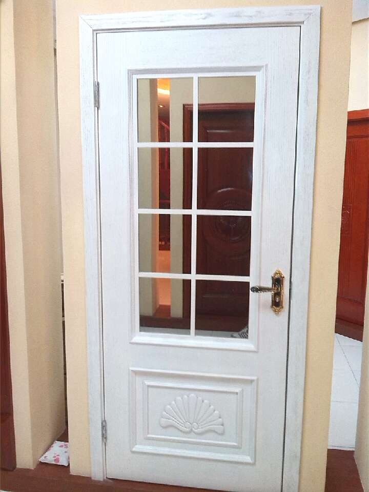 solid wood door with glass