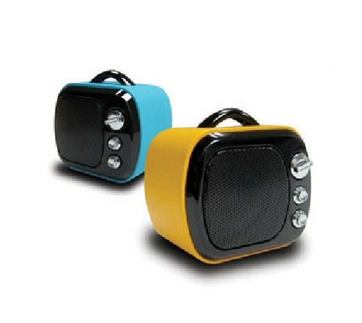 Retro TV Style Digital Music Speakers Festival Gifts