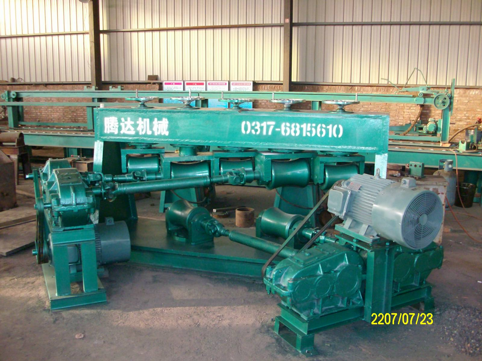 Steel tube straightening machine /Manufacturing and