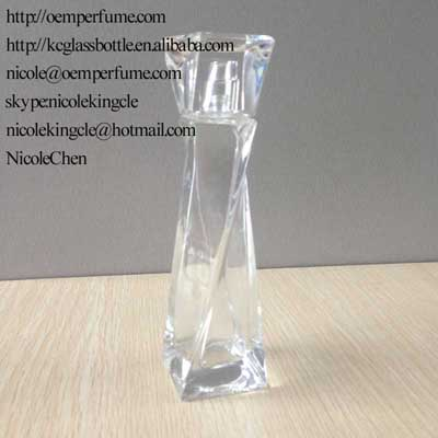 perfume glass bottle with cap