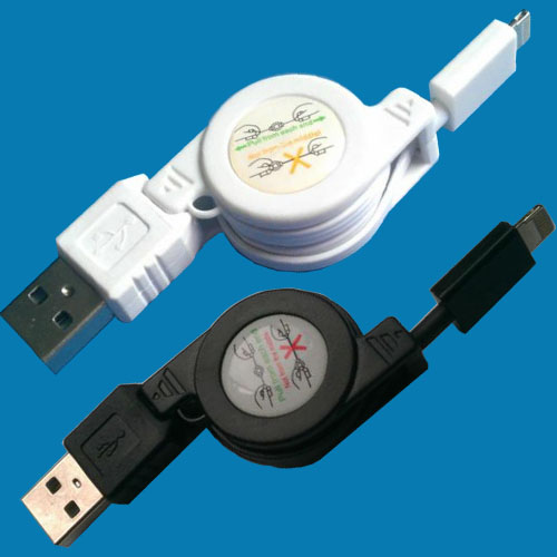 8pin Retractable USB cable for Iphone5