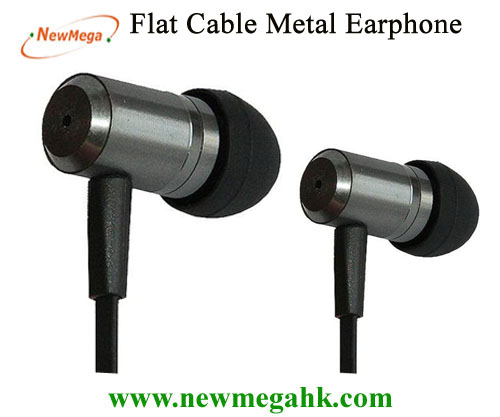 Flat Cable Metal Earphone for Iphone