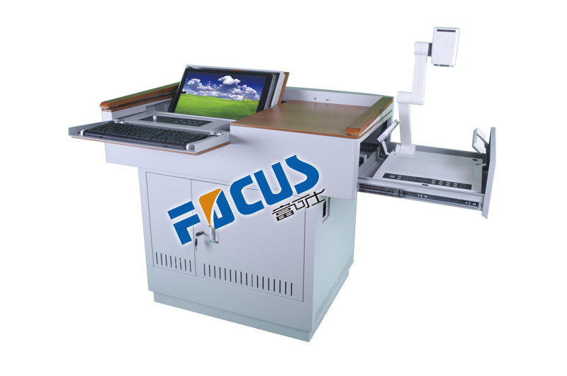 Focus S400 solid wood and steel educational rostrum