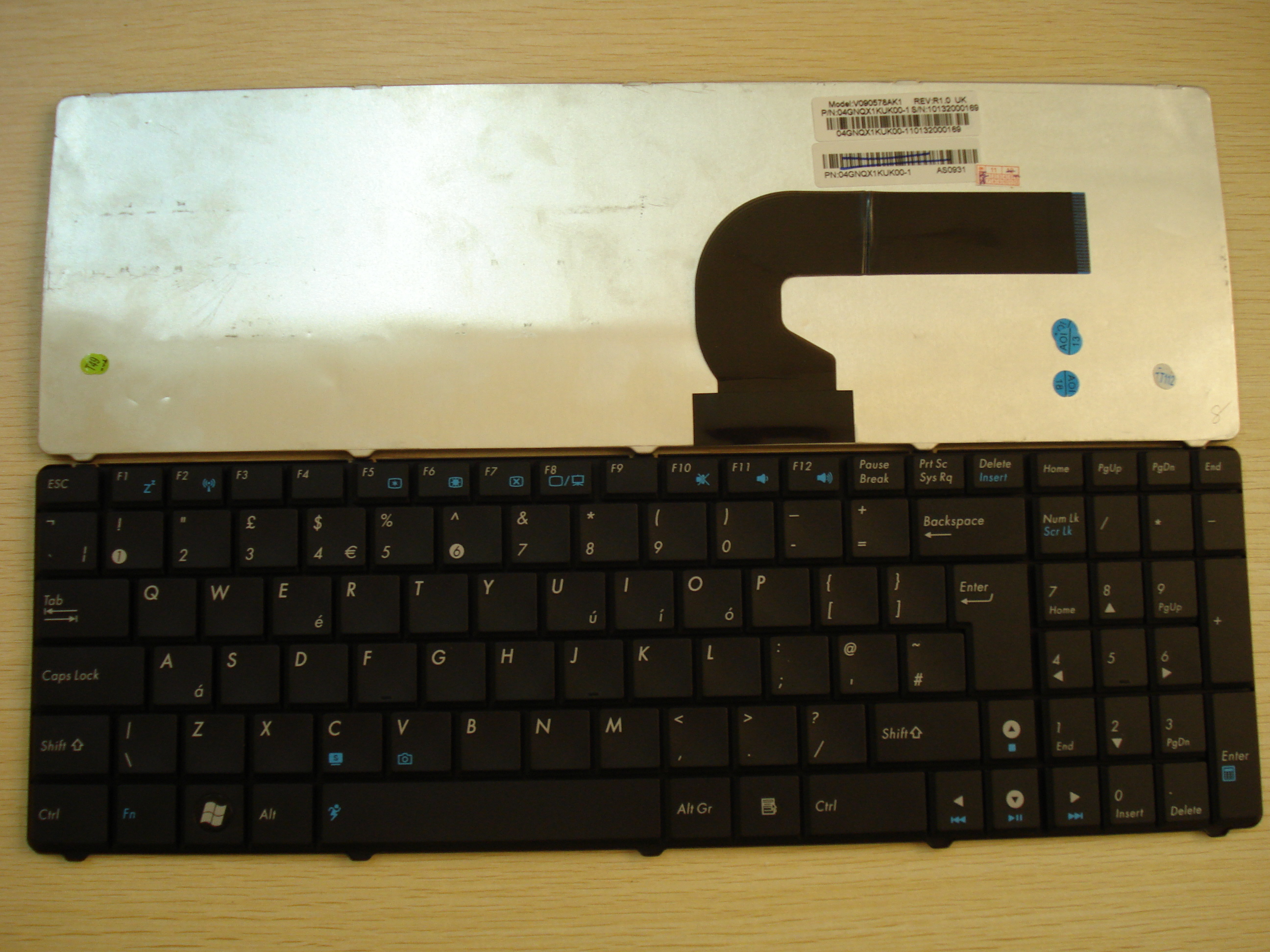 original new keyboard  with frame for ASUS K53 X53  laptop RU/US/UK