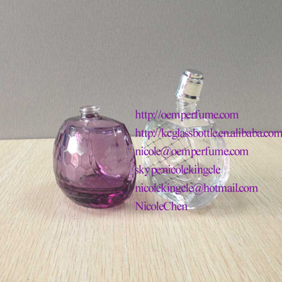 50ml polish half round perfume glass bottle